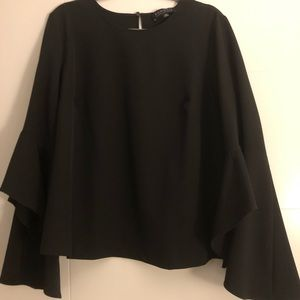 Eloquii Black Fashion blouse with dramatic sleeve